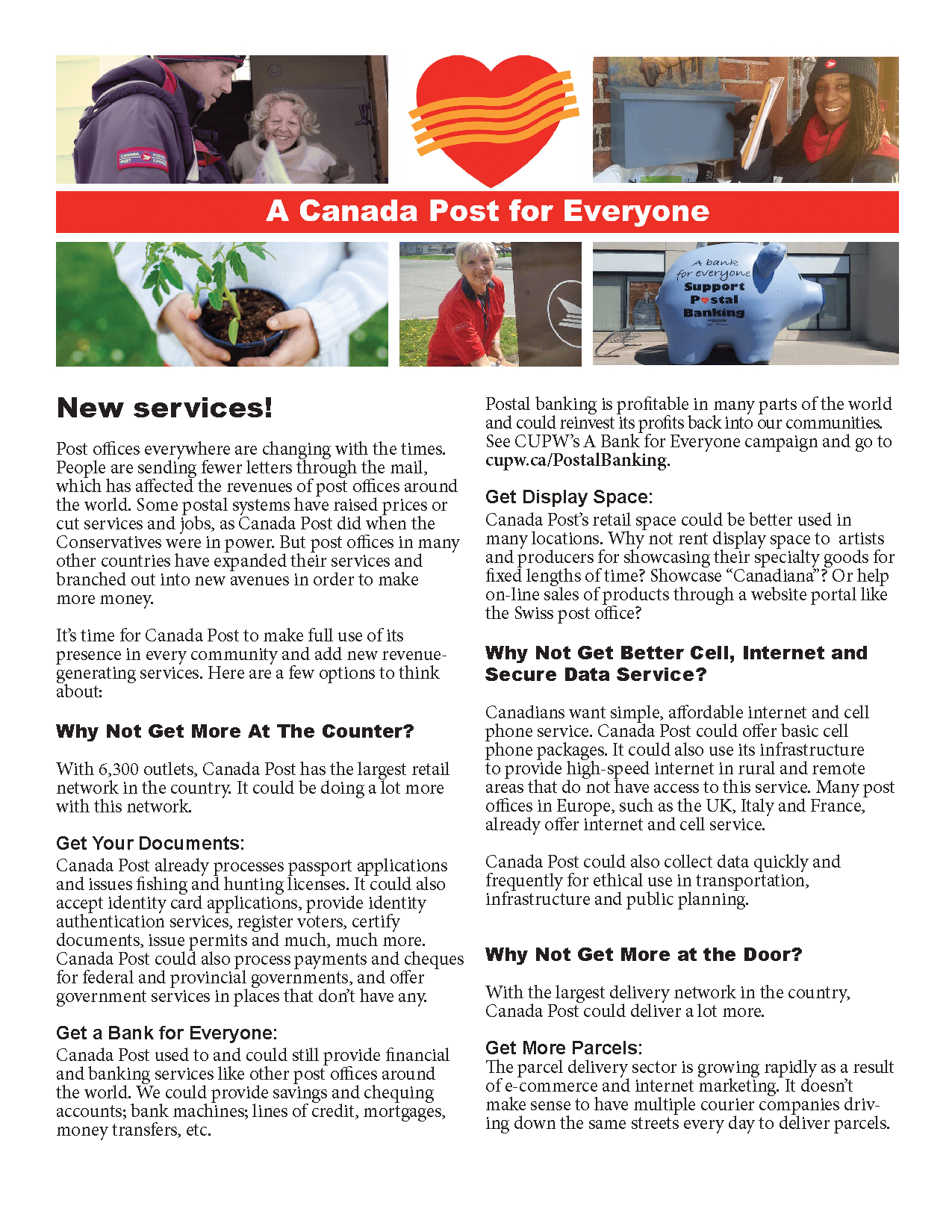 It's time for Canada Post to make full use of its presence in every community and add new revenue-generating services.