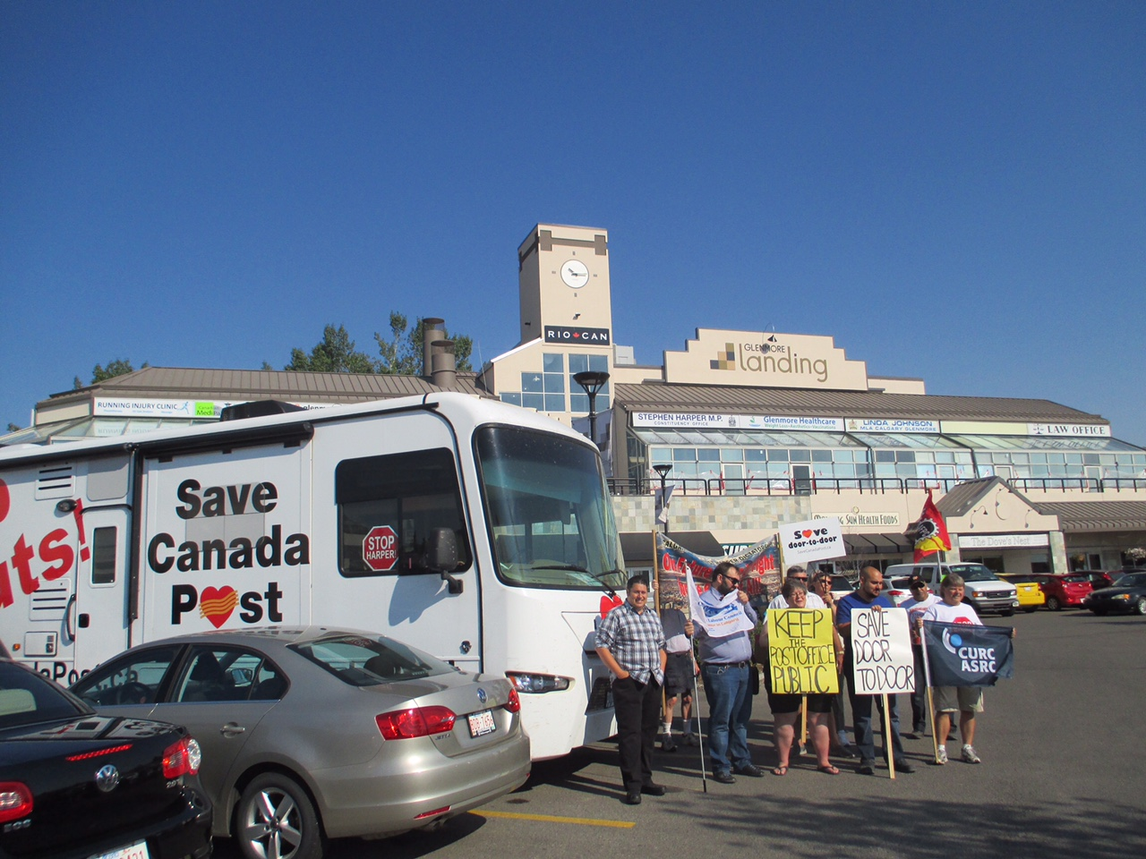 At Stephen Harper's constituency office in Calgary