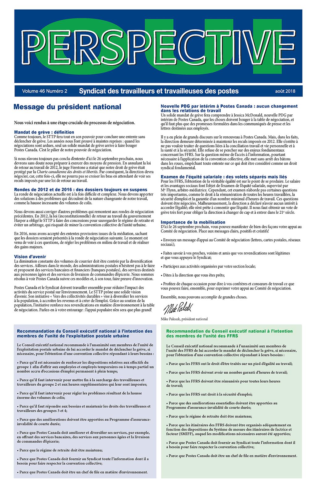 Vote de grève des unités urbaine et rurale (FFRS) – Dix raisons de voter OUI (Perspective)